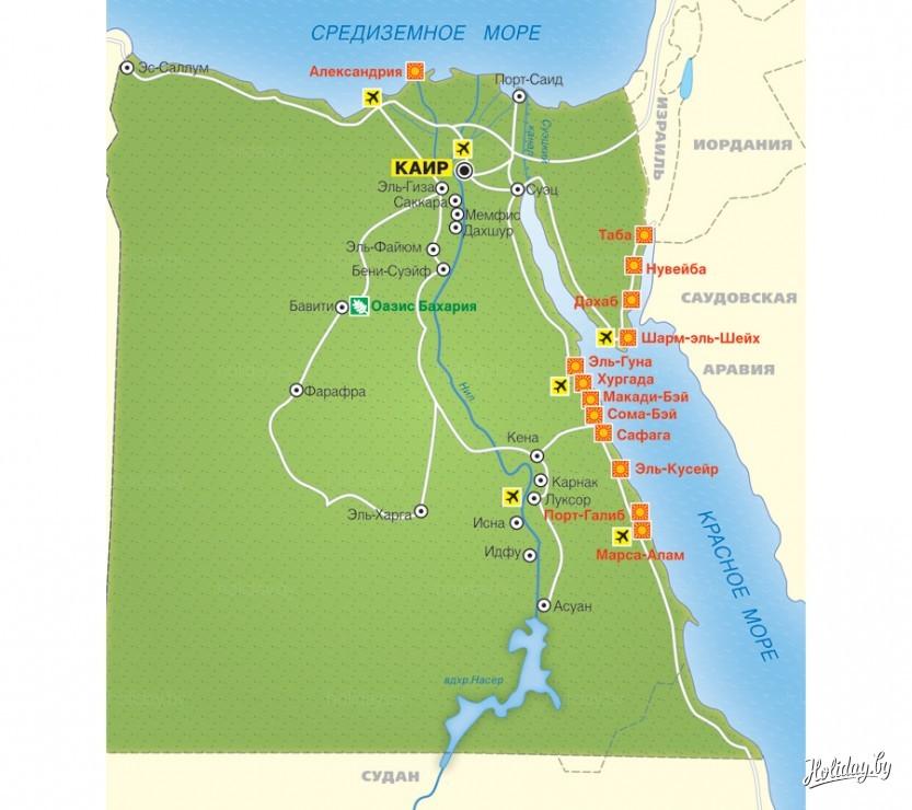 Turisticheskaya Karta Egipta Turisticheskij Blog Ob Otdyhe V Belarusi