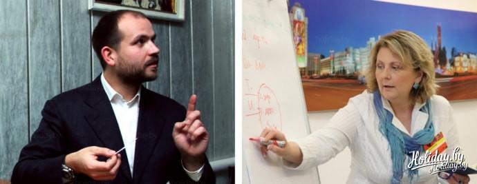 На фото слева направо: Александр Гранд и Жанна Гринюк