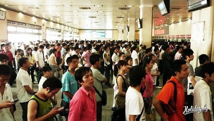 Поездка на поезде в Китае