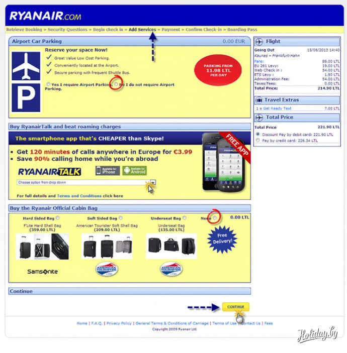 Ryanair инструкция рубли