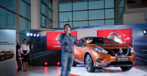 Для презентации нового Nissan в Минске автосалон превратили в бизнес-лаунж аэропорта