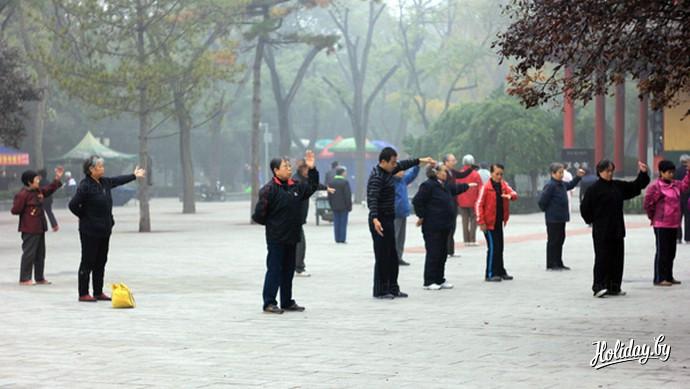 Утренняя гимнастика в Китае