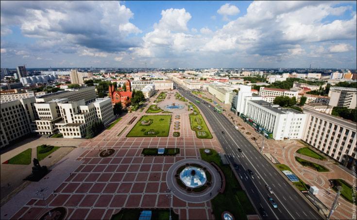 Минск с высоты. Автор фото: raskalov_vit