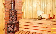 Дом-баня с террасой с видом на Минское море
