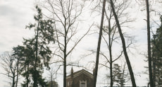 Часовня на католическом кладбище в Коссово