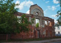 Руины Большой Любавичской синагоги в Витебске