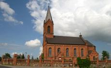 Костел Святого Яна Крестителя в деревне Опса